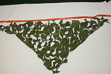 BRITISH ARMY CAMO NETTING HELMET COVER OR NETTING HIDE PIECE CAMO NET TRIANGULAR