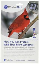 Window Alert 4 Snowflake Decals Save Protect Wild Birds Prevent Window Strikes