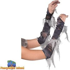 ZOMBIE GHOST GOUL CORPSE BRIDE GLOVES - ladies womens fancy dress costume