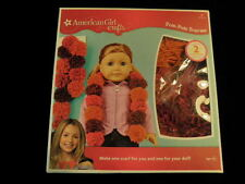 American Girl Crafts Pom-Pom Scarves Make a PINK scarf for you and your doll  A4