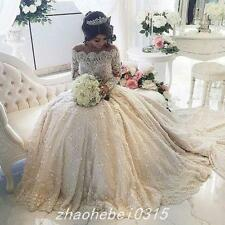 New Vintage White lace Wedding Dress Gorgeous Lace Bridal Ball Gowns Custom Made