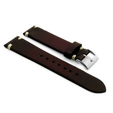 StrapsCo Faded Ombre Vintage Leather Hand-Stitched  Mens Watch Band Strap