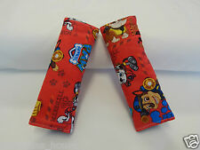 Baby Car Seat Belt Strap Covers Highchair Stroller Pram Paw Patrol Red - Cotton