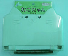 For Old 3DS LL XL Silicon Case Cover Cat Neko Nyan Ivory white