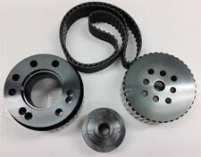 SBC Chevrolet Chevy Gilmer Belt Drive Pulley Set Black LWP 265 283 305 350 400
