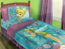 BRAND NEW OFFICIAL DISNEY TINKERBELL 4 PIECES TWIN BED COMFORTER SET