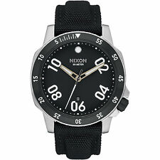 New Nixon Ranger Black Dial Nylon Strap Men's Watch A942000