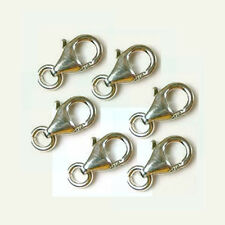 10x  8.5mm 925 Sterling Silver Trigger Lobster parrot  Clasps small closure F32