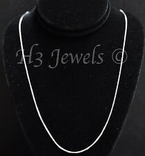 1.60 grams 14k solid white gold foxtail wheat chain necklace 18 inches fox #3518