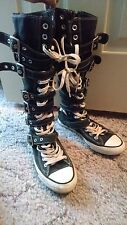Black Converse All Star Chuck Taylor XX HI Buckles Size Men 5 Woman 7