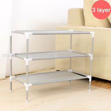 3-Tier Space Saving Storage Organizer Shoes Tower Rack Shoe Shelf Free Standing