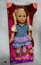 "NEW 18"" My Life AMERICAN COWGIRL DOLL Blonde Girl Boots Outfit Madame Alexander"