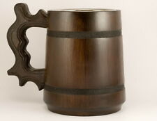 Wooden beer mug 23oz Wooden tankard Beer stein Wooden mug