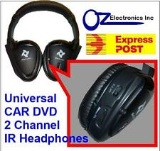 UNIVERSAL IR Infrared Headphones compatible Toyota LandCruiser Prado Klugar NEW