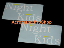 "2x 6"" 15.2cm NightKids Night Kids Decal Sticker initial D for skyline gtr civic"