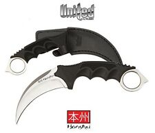 United Cutlery - HONSHU Karambit Silver Boot Knife w/ Sheath UC2786 New