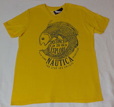 NWT Nautica S/S V-Neck Yellow Graphic T-Shirt   XXX- Large    F255