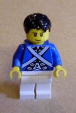 Lego Figur Bluecoat Soldier 6 - Cheek Lines, Black Hair (Blaurock Wange) Neu