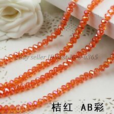 Wholesale 4/6/8/10MM Bicone Faceted Rondelle Crystal Glass Loose Spacer Beads