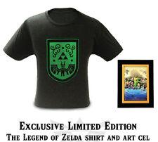 The Legend of Zelda Cel Art & T-Shirt Tee Nintendo World Limited to 1000 copies