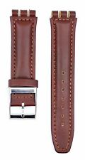 Fit For Swatch Irony 19mm Brown Leather Watch Strap SWC138 (Similar Strap)