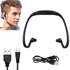 Sport Wireless Headset Headphone Earphone Micro SD TF MP3 Music Player Black