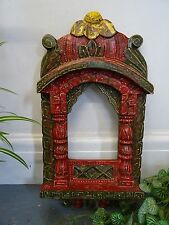 Vintage Style Wooden Painted Jharokha  Picture Frame 42cm Tall