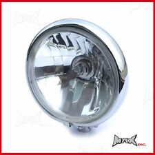 Motorcycle Motorbike Quad Trike Scooter Custom Chrome Metal Headlight 5.75 INCH