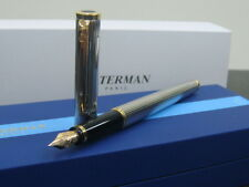 〝EMS FREE SHIPPING〞WATERMAN PREFACE SILVER & GOLD TRIM FOUNTAIN 18K Fine nib