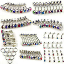 100 PIERCING LIP TONGUE BAR BELLY RING CAPTIVE EYEBROW NIPPLE LABRET STUD B08