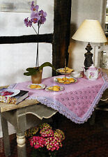 KNITTING PATTERN HOME 100x100cm VINTAGE-STYLE BEADED LACE TABLECLOTH KM M3A