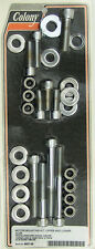 Harley 84-99 Softail Motor Mounting Kit Knurled Allen Chrome Colony 9927-28