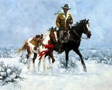 """The Christmas Pony By Jim Rey Horse Print Image 24"""" x 19.5"""""""