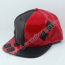 Movie Suicide Squad Harley Quinn Cos Synthetic Leather + Canvas Baseball Cap Hat