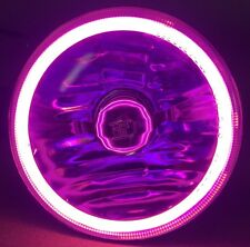 "5-3/4"" Purple COB SMD LED Motorcycle Crystal Clear  Halo Headlight Fits: Harley"