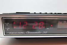 Vintage Realistic Chronomatic 243 AM FM  Alarm Clock Radio Led