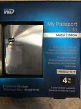 Western Digital WDBEZW0040BSL-NESN Wd 4tb My Passport Ultra Metal Edition