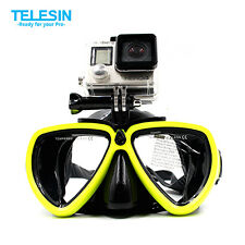 Diving Mask Scuba Snorkel Swimming Goggles For GoPro Hero 4 3+ SJ4000 Xiaomi Yi