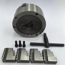 Nuevo 80mm 4 Mordazas Torno Chuck Accesorio de metal centrado automático torno CNC de perforación