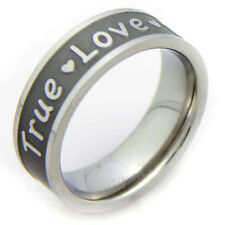 """True Love Waits"" Stainless Steel Promise Ring -Size 6"