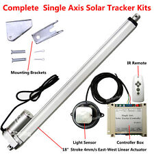 """1KW Single Axis Solar Tracker Track Kit &18"""" Linear Actuator &Controller &Remote"""