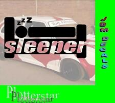 Sleeper Turbo Hater Aufkleber Sticker Race Raser Fun JDM OEM DUB Like