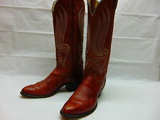 Tony Lama Womens 6.5 B Red Brown Leather Western Cowboy Riding Rodeo Work Boots