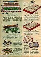 1976 ADVERT Super Bowl Toy Play Electric Football Game Hockey Baseball