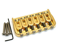 "Hipshot Gold Fixed Hardtail Guitar Bridge .125"" Floor Height 41060G"