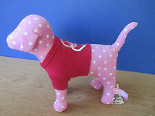 Victoria's Secret~PINK~Plush Pink POLKA DOT w/ Shirt PUPPY DOG~NWT