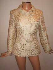 DOLCE & GABBANA 44 8 D&G GOLD Brocade Designer LUXURY Jacket Womens Blazer