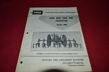 Ford Tractor 406 Tool Bar Cultivator Operator's Manual CHPA white