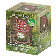 Meadow Flameglimmer Fairy House Solar Power LED Light Patio Garden Ornament