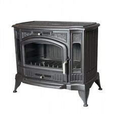 Iron Stove Chimney Wood Coal Multi Fuel Burner 13kW Solid Cast Iron